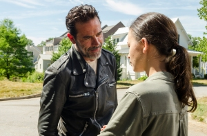 Christian Serratos as Rosita Espinosa, Jeffrey Dean Morgan as Negan- The Walking Dead _ Season 7, Episode 4 - Photo Credit: Gene Page/AMC